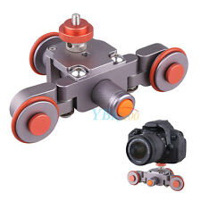 Electric Video Pulley Car Dolly Rolling Slider For Canon Camera Smartphone LJ