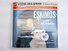 View-Master ESKIMOS OF ALASKA #A102 - 3 REELS & BOOKLET - MA