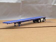 dcp Wilson blue spread axle 53ft flatbed trailer no box 1/64