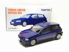 JAPAN TOMYTEC TOMICA LIMITED VINTAGE NEO LV-N65B HONDA CIVIC VTI 1/64 BLUE
