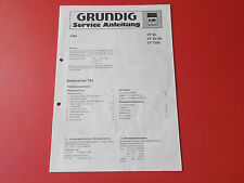 Grundig CF 30, CF 30 GB, CF 7200 orig. Service Anleitung Kasettenrecorder