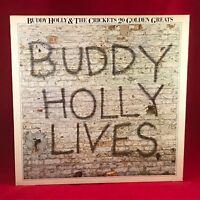 BUDDY HOLLY & THE CRICKETS 20 Golden Greats 1978 UK VINYL LP EXCELLENT Best of B