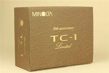 MINT Minolta TC-1 Black 70th Anniversary Limited 35mm Point & Shoot Film Camera