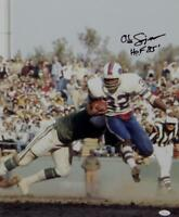 O. J. Simpson Signed Buffalo Bills 16x20 Running Photo w/ HOF- JSA-W Auth