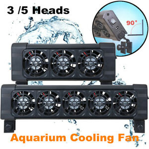 3 /5 Heads Aquarium Water Cooling Fan Tropical Marine Fish Tank Chiller 12V UK