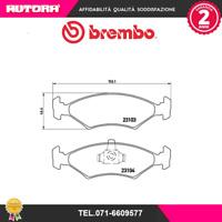 P24043 Kit pastiglie freno a disco ant Ford-Mazda (MARCA-BREMBO)