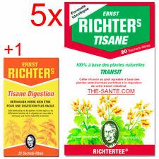 5x TISANE RICHTER'S MINCEUR + 1 Tisane Richter's Digestion (the richters)