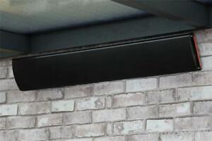 Dunkelstrahler Heizstrahler 3200 Watt mit Fernbedienung Terrassenstrahler