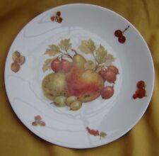 Vintage Mitterteich Bavaria Germany Debra Fine China Fruit Plate w/Pear 7 3/4 in