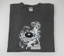 House Music DJ Dance Club Gray Cool T-Shirt Men's XL RARE !