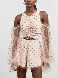 BNWT Alice Mccall Stardust Frill Playsuit Size 14 RRP $395