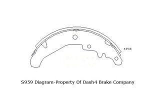 Drum Brake Shoe-Dash4 Rear Dash 4 Brake B959