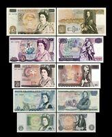 Gran Bretaña - 2x 1, 5, 10 ,20 , 50 Pounds - Edición 1971 - 1993 Reproducción 02