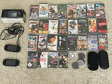 Sony PSP Playstation Portable NERO 2004 Set completo pacchetto 28 giochi accessorie