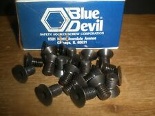 "(Qty.21) 7/16-14 x 3/4"" Flat Head Socket Cap Screw Blue Devil SHCS USA"