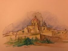 Mdina Malta Watercolour Print