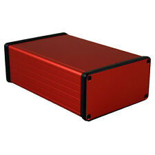 Aluminio instrumento Gabinete Rojo Hammond 1455 160x103x53mm proyecto Funda Caja