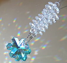 Ornament made with Green AB Swarovski Snowflake and Octagon Prisms