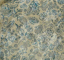CHRISTOPHER HYLAND Cortis Romagna toile silk linen damask blue new 13+ yds  Como