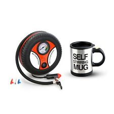260PSI Auto Car Electric Tire Inflator with Self Stirring Mug (Black)