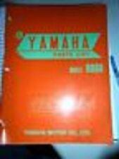 Yamaha Parts List Manual 1974 RD60