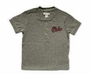 New Polo Ralph Lauren Short Sleeve T Shirt Top  Grey Red & Blue Logo 24M Age 2