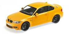 Bmw 1er M Coupe' 2011 Yellow 1:18 Model MINICHAMPS