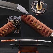 Handmade Folded Steel Katana Sharp Blade Japanese Samurai Swords Ready Battle#99
