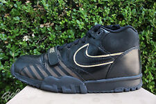 NIKE AIR TRAINER MID 1 PRM NRG SZ 9.5 BLACK METALLIC GOLD 532303 090