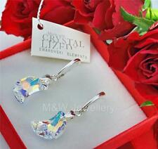EARRINGS CRYSTALS FROM SWAROVSKI® MOON CRYSTAL AB 16mm 925 STERLING SILVER