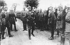 WW1 - Guerre 14/18 - Le Kaiser et son Etat-major à Denain en mai 1917