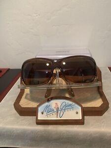 Maui Jim 'PALMS' MJ111-01 Brown Frame w/ HCL Bronze Lens + Case 'NICE'
