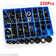 250 Kit Rubber Grommet Firewall Assorted Hole Plug Electrical Wire Cable Gasket