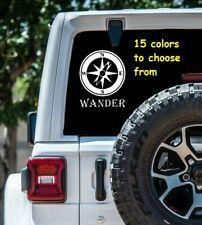 7 Sizes Wander Compass Car Window Decal Sticker Laptop MacBook Computer Wall