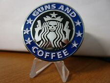 NYPD Guns and Coffee Police Dept New York City Challenge Coin (Blue Version)
