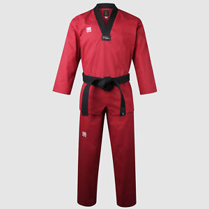 Taekwondo Red Colored Uniforms Mooto BS4.5 New WT Logo Doboks Suits Martial Arts