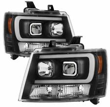 Spyder Projector Headlights - Light Bar DRL - Black for Suburban,Tahoe,Avalanche