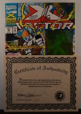 X-Factor # 92  (Marvel, 1992) Signed by Quesada #6690/7500 w/certificate