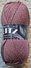 6 X 100g King Cole Glitz Rose 1957 DK Acrylic Yarn Glitter Knitting Wool