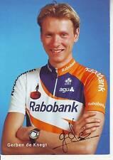 CYCLISME carte cycliste GERBEN DE KNEGT équipe RABOBANK