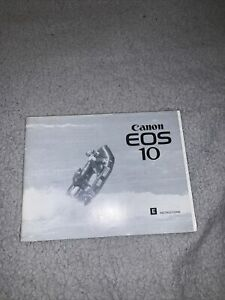 Original 1990 Canon EOS 10 Instruction Manual VGC