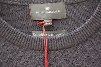 NEW MENS GENTS M & S BLUE HARBOUR LAMBSWOOL SWEATER - XX-LARGE - NAVY BLUE