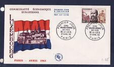 enveloppe 1er jour   grands  hommes   Mayrisch    1963