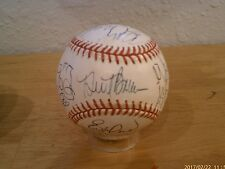 2001 San Francisco Giants Team signed ball ... Bonds / Baker signed