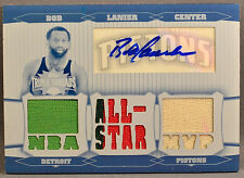 Topps Triple Threads Bob Lanier JERSEY PATCH AUTO PRINTING PLATE 1/1 WHITE WHALE