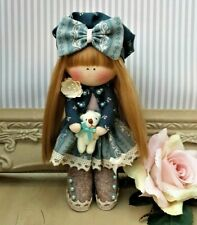 Rag doll handmade in the UK Tilda doll Ooak doll Cloth doll LOTTIE 6 inch tall