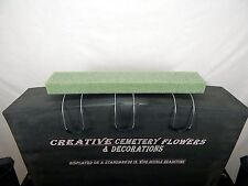 "24""  Memorial Cemetery Silk Flower Headstone/Tombstone Saddle & Floral Foam"
