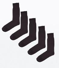 New Look Men 10 Pairs Pack Black Socks One Size