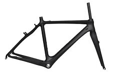 52cm BB30 Cyclocross Carbon Frame Fork V Brake Cantilever black Matt Road Bike
