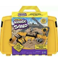Kinetic Sand Construction Site Folding Sandbox Playset 2lb Natural Sand